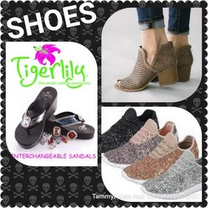 Glitter Sneakers Flip Flops Sandals Booties